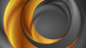 Анимация серого цвета, бронзовых и золотых абстрактная лоснистая видео- бесплатная иллюстрация