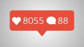 Анимация - современная как красные значки установленные, на белую предпосылку отснятый видеоматериал 4k бесплатная иллюстрация
