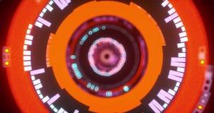 Анимация схематического/абстрактного отключения внутри электронного глаза акции видеоматериалы