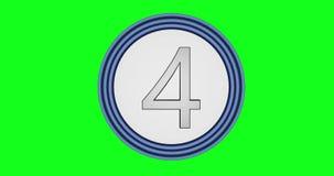 Анимация с номерами от 10 до нул внутри зеленая предпосылка chroma иллюстрация штока