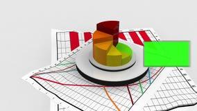 Анимация с файлами статистики и экраном chroma ключевым бесплатная иллюстрация