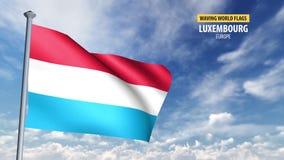 анимация флага 3D Люксембурга
