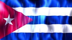 Анимация флага Кубы иллюстрация вектора