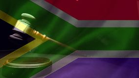 Анимация цифров южно-африканского флага акции видеоматериалы