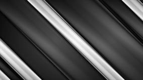 Анимация черно-белых лоснистых нашивок абстрактная видео- иллюстрация вектора