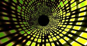 Анимация 4K UHD тоннеля танцплощадки 2D сток-видео
