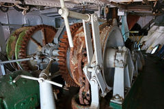 Анкерная цепь корабля на шлюпке Стоковое Изображение RF