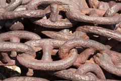 анкерные цепи большие Стоковое фото RF