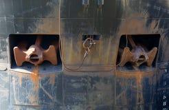 Анкеры на кормке корабля Стоковые Фотографии RF