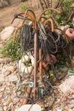 Анкеры на пляже Стоковое фото RF