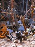 Анкеры шлюпки Керала Индия Стоковая Фотография