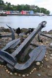 Анкеры шлюпки на гавани Tobermory Стоковые Фото