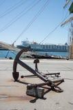 Анкер корабля в Fremantle Стоковые Фото