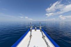 Анкер корабля на океане Стоковое фото RF