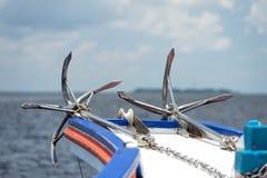 Анкер корабля на океане Стоковое Изображение