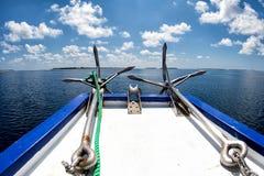 Анкер корабля на океане Стоковые Фото
