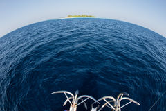 Анкер корабля на океане Стоковые Изображения RF