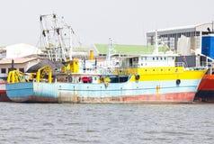 Анкер корабля на порте. Стоковое Изображение RF