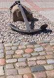 Анкер на камне стоковое изображение rf