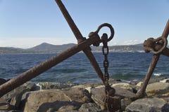 Анкер на море в St Tropez стоковые фотографии rf