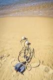 Анкер на пляже Стоковая Фотография