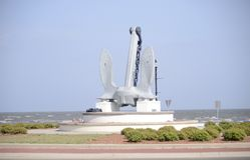 Анкер на Gulfport, Oceanfront Миссиссипи стоковое изображение rf