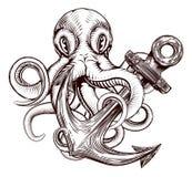 Анкер осьминога бесплатная иллюстрация