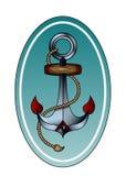 Анкер с веревочкой стоковое изображение rf