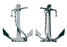 Анкер с цепью Стоковое Изображение RF