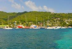 Анкоредж в островах гренадина Стоковые Изображения RF