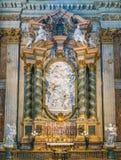 ` Аннунциации ` Филиппо Della Valle, в церков St Ignatius Loyola в Риме, Италия стоковая фотография