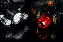 Анодированный алюминиевый водоустойчивый тактический headlamp электрофонаря Стоковая Фотография