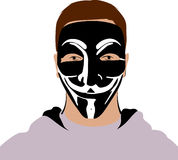 Анонимная маска Стоковая Фотография
