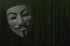 Анонимная маска стоковые изображения