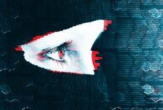 Анонимность влияния небольшого затруднения предпосылки интернета Стоковое Фото