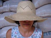 анонимныйый бразильский работник страны стоковые изображения