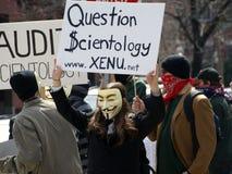 анонимныйый протестующий Стоковые Фото