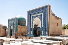 Ансамбль Shah-i-Zinda на старом шелковом пути в Самарканде, Uzbekis стоковое изображение rf