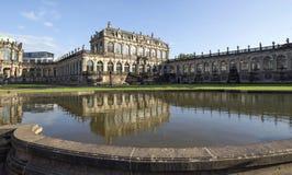 Ансамбль архитектурноакустических и парка Zwinger Стоковые Изображения