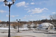 Ансамбль дворца и парка Tsaritsyno общий взгляд Стоковое фото RF