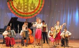 Ансамбль детей народных инструментов Стоковое Фото