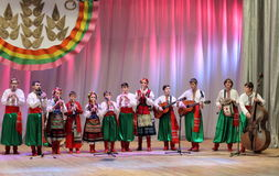 Ансамбль детей народных инструментов Стоковые Фотографии RF