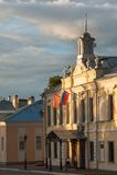 Ансамбль здания квадрата собора в Kolomna Кремле Kolomna Россия стоковая фотография