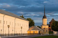 Ансамбль здания квадрата собора в Kolomna Кремле Kolomna Россия стоковое фото