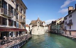 Анси - город канала в восточной Франции Стоковое Изображение