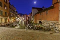 Анси ноча города старая Стоковое Изображение RF