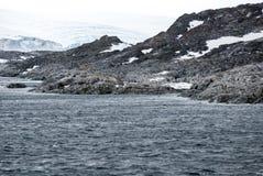 Антарктика в пасмурном дне Стоковые Изображения RF