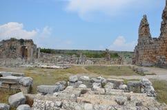 Анталья, Турция, древний город Perge, старые римские времена и факты здесь, доказательство больших правил жизни Rom Стоковое Изображение