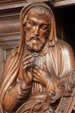 Антверпен - высекаенная святая статуя в церков Willibrordus Святого стоковые изображения rf
