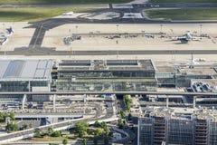 Антенна авиапорта в Франкфурте Стоковые Изображения RF
